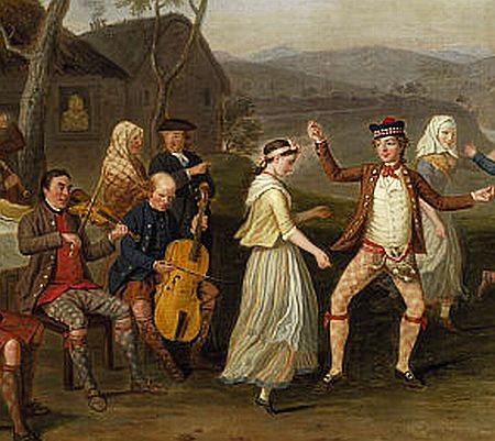 ил.3.David Allan /Highland wedding at Blair Atholl 1780/